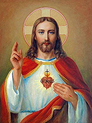 RIII DIY round diamond painting 5D jesus religious craft mosaic adult digital painting home decoration