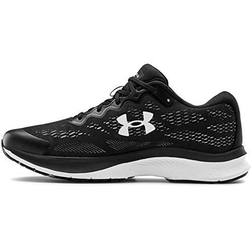 Under Armour womens Charged Bandit 6 Running Shoe, Black/White, 8.5 US