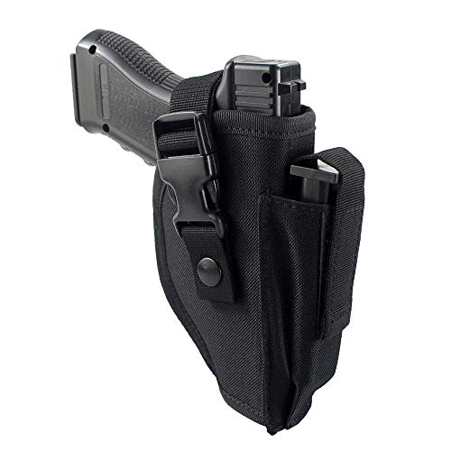 Depring Tactical Belt Holster with Mag Pouch Universal Outside The Waistband Holster