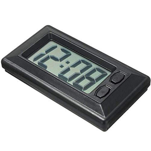 Meclelin Mini Auto Uhr Digital LCD Armaturenbrett Selbstklebend Datum Zeit Kalender Fahrzeug Elektronische Digitaluhr