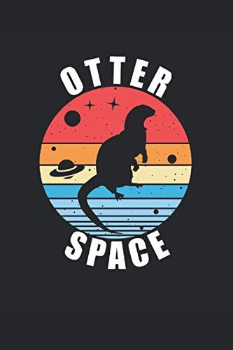 Cuaderno de cuadros Otter Space Sea Otter Animal Lovers: Cuaderno a cuadros para amigos de las nutrias, amantes de las nutrias marinas y amantes de los animales.
