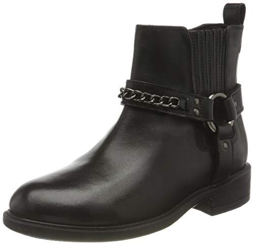 Geox Damen D CATRIA D Ankle Boot, Black, 39 EU