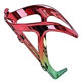 Jaulas de Botella Portabidón para Bicicleta Ligero y Fácil de Montar Vistoso Portabidones Ciclismo/Bicicleta de Montaña MTB/Gravel Bike Seguro (Color : Red+Green)