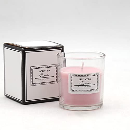 Velas de aromaterapia, paquete de 4 velas para el hogar, velas aromáticas de aromaterapia, regalo, tarro de vidrio, regalo. Velas de incienso de caja de regalo de fragancia romántica nórdica