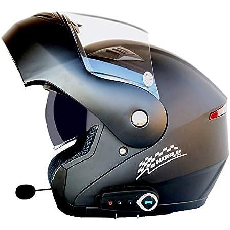 SMINNG Casco De Moto con Bluetooth,Casco Modular De Motos Integrado ECE Homologado para Patinete Electrico Motocicleta Bicicleta Scooter con Gafas De Doble Protecci/ón Mujer Y Hombre