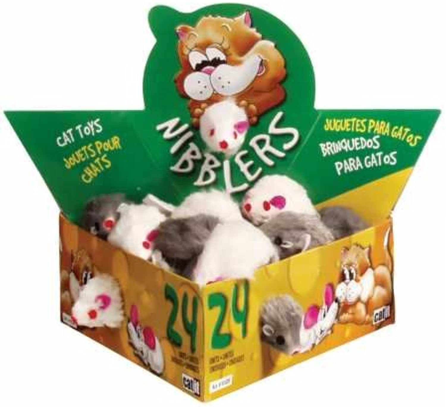 Catit Deluxe Fur Mouse, Small (24 Box)