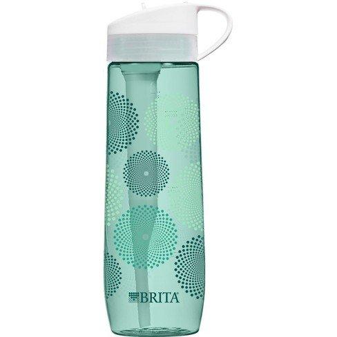 Brita Hard-Sided Filtered Water Bottle (Teal) Mint Sunburst