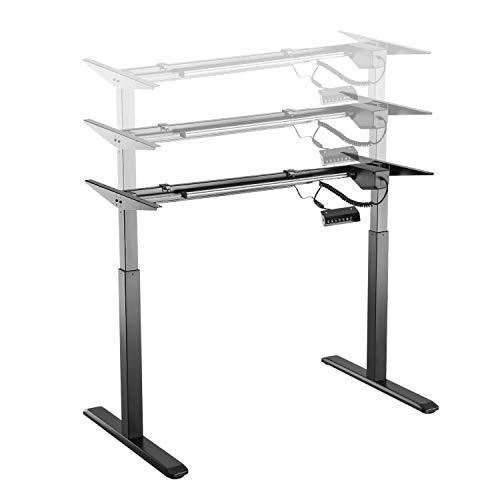 HOKO® Ergonomiczna regulacja wysokości biurka, nóżki stołu Comfort czarne, elektrycznie regulowana wysokość. Praca w pozycji siedzącej i stojącej! Sterowanie pamięcią + funkcja przypomnienia.