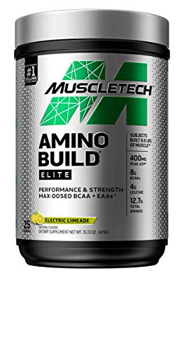 MuscleTech Amino Build Elite, Electric Limeade, 429g