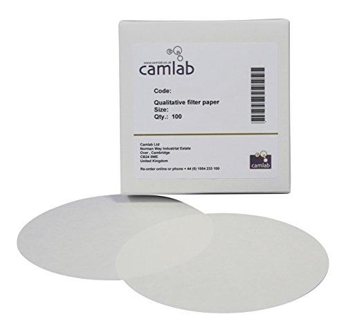 Camlab 1171070 111 grado [4] qualitativi carta da filtro e un filtraggio, 110 mm diametro, confezione da 100 pezzi
