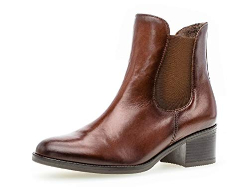 Gabor Damen Chelsea Boots 31.650, Frauen Stiefelette,Stiefel,Halbstiefel,Schlupfstiefel,gefüttert,Winterstiefeletten,Sattel (Effekt),39 EU / 6 UK
