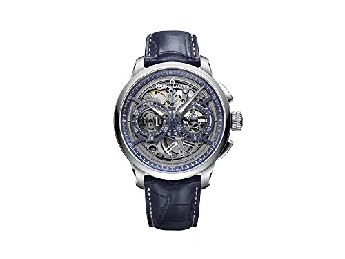Maurice Lacroix Masterpiece Automatik Uhr Chronograph Skeleton, 45mm, Aligator