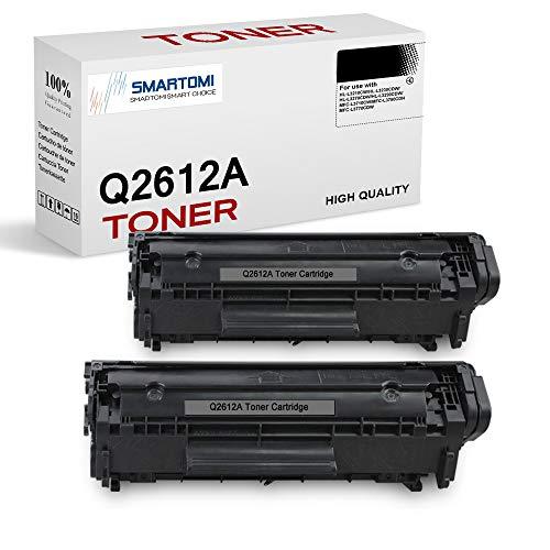 SMARTOMI Q2612A 12A Cartuchos de tóner Compatible para HP 12A Q2612A para HP Laserjet 1010 1012 1015 1018 1020 1022 1022n 1022nw 3015 3020 3030 3050 3052 3055 M1005 M1319 M1319f