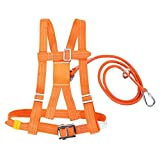 Arnés de Escalada, Medio Cuerpo Cinturón de Seguridad Ajustable Arnés de Escalada al Aire Libre para Trabajos Aéreos(SMALL 5m)