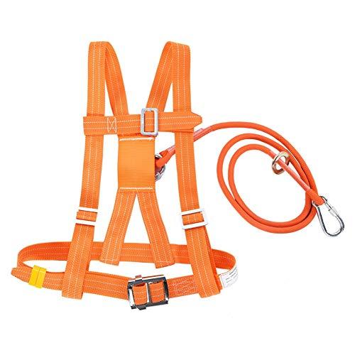 Kits de arnés de seguridad, arnés de seguridad para la detención de caídas, 6 stypes Arnés de escalada ajustable para exteriores Cinturón de seguridad Cuerda de rescate(Small Buckle 3m)