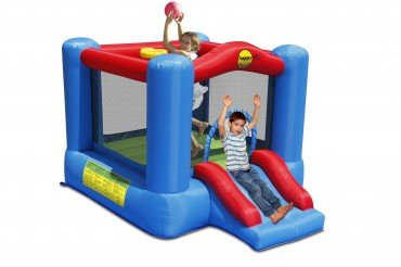 Happy Hop 9270 Slide and Hoop Bouncy Castle, Multicolour