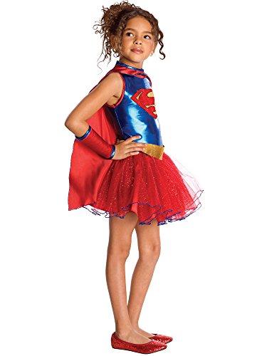 Rubie's Supergirl -Kostüm mit Pailletten für Mädchen - 116 (5-7Jahre) / M