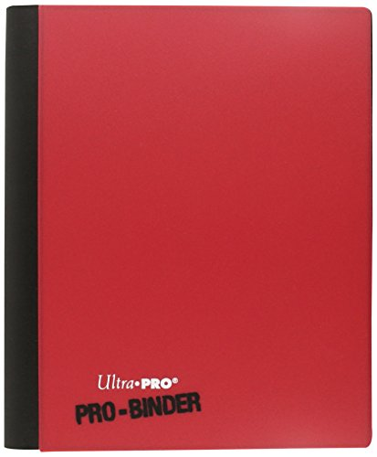 Ultra Pro-E-84025 4-Pocket Red & White Flip Pro-Binder, Color Red and White, (84025)