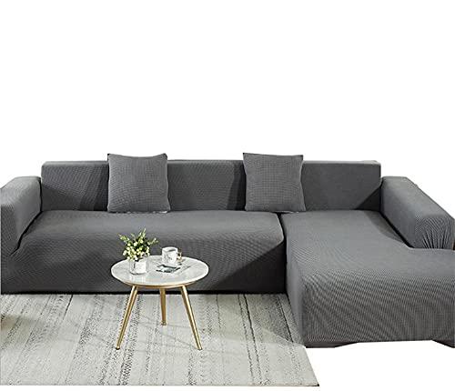 Copridivano, copridivano, sedia, antiscivolo, per cani, protezione per divano, lavabile per animali domestici, 4 posti da 92 a 299 cm, grigio