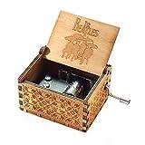 Evelure Carillon Beatles, scatole Musicali a manovella in Legno Intagliato Antico per Il C...