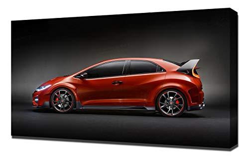 Lilarama 2014-Honda-Civic-Type-R-Concept-V2-1080 - Art Leinwandbild - Kunstdrucke - Gemälde Wandbilder