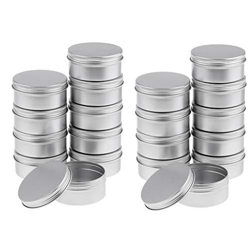 Amuzocity 20pcs 150ml Pots en Aluminium pour Produits Cosmétique avec Couvercle à Visser