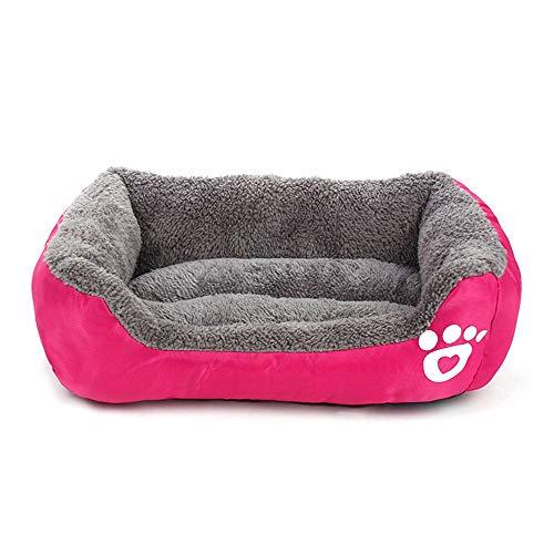 Footprints Plush Pet Nest Pet Kennel Pet Cat Dog Nest Warm Soft Pet Sleeping Bed Cojín Cat Home Dog Kennel (Rose Red XXL 95 * 85Cm)