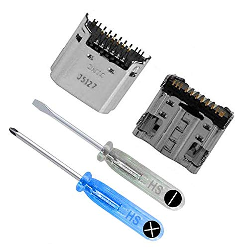 MMOBIEL 2X Dock Ladebuchse Port Jack Fassung kompatibel mit Samsung Galaxy Series und Tab 3 Tab A 7.0 Tab E 9.6 Tab 10.1