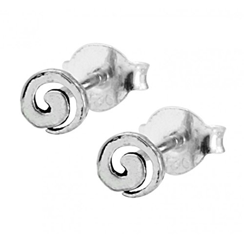Chic-Net Silberohrstecker Ohrstecker 925er Sterling Silber Unisex Schmuck Ohrringe runde Spirale