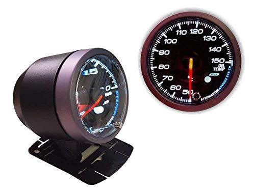 AUTOMAX izumi 油温計 60mm ピーク機能 ミュート機能付き ホワイト アンバー LED 2色切り替え