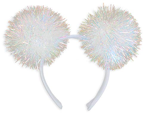 Princess Paradise Women's Iridescent Pom Headband, As Shown, One Size