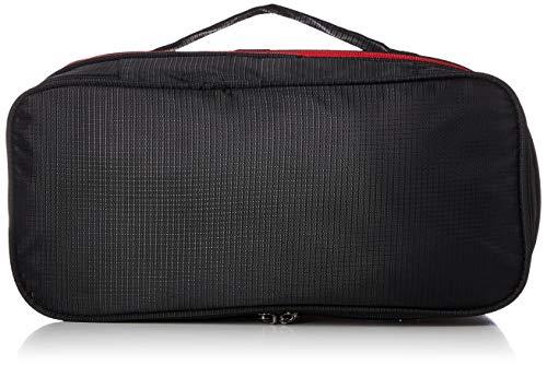 [トラベルコレクション] 圧縮バッグ Sサイズ パッキングオーガナイザー・アレンジケース TRC7073-S 16 cm ブラック/レッド
