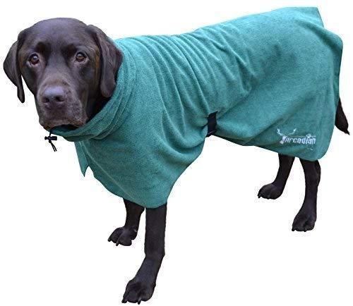 Arcadian Mikrofaser Hunde Bademantel, leicht, schnell trocknend und super saugfähig
