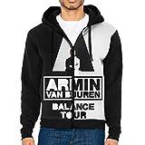 Armin Van Buuren - Sudadera con capucha para hombre, estilo casual, manga larga, con cordón