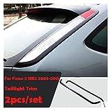Accessoires de Coiffure de Voiture Air Vent Gear Porte-gobelets d'eau Panneau AC Panneau AC Couverture décorative INTÉRIEUR Cass pour Ford Focus 2 MK2 2005-2008 (Color Name : Taillight Trim 2pcs)