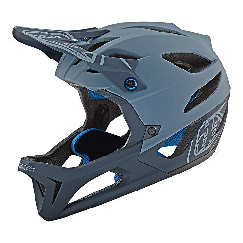 Troy Lee Designs Adult Full Face | Enduro | Downhill | Trail | Mountain Biking Stage Stealth Helmet with MIPS (Medium/Large, Gray)