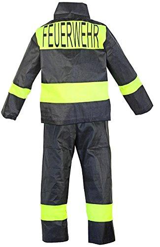 Nerd Clear Feuerwehr-Kostüm Kinder Feuerwehr-Mann Fasching Karneval Kinder-Kostüm Gr. 4 92-98 Waschbar Polyester