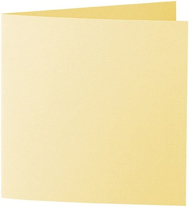 50 Stück    Artoz Serie Serie Serie 1001 Doppelkarten gerippt    Quadratisch, 310 x 155mm, hochwertig, lichtgelb B002JJATJ2     Elegantes und robustes Menü  92f241