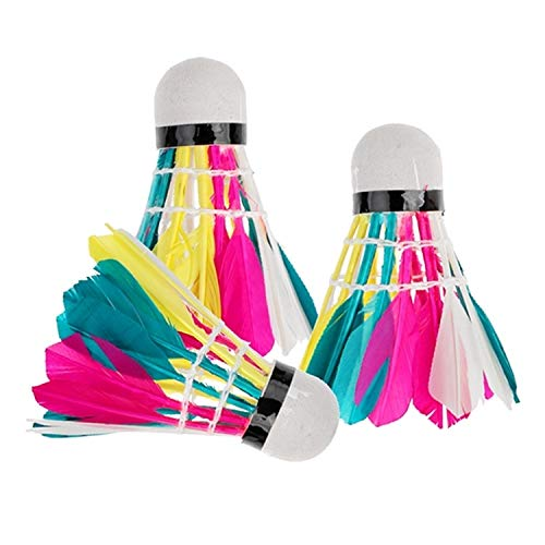 YIXIE Erwünschte Badminton for Abode Unterhaltung, Buntes Badminton WEEXIZHIGUANGLIYA