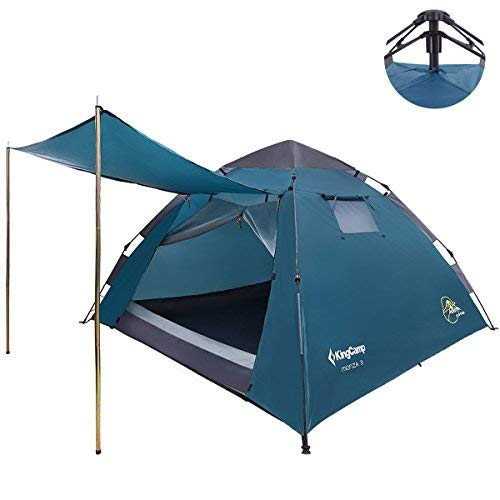 KingCamp - Tienda de campaña impermeable para 3 personas con toldo de puerta para camping, senderismo, festivales (Gyan)