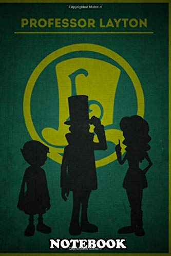 Notebook: Minimalist Portrait Professor Layton , Journal for Writing, College Ruled Size 6