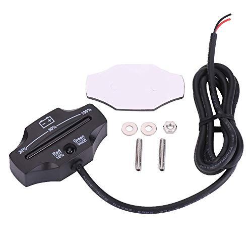 Find Bargain Duokon Black ABS LED Battery Meter Indicator Gauge Battery Testers for Carts Marine Mot...