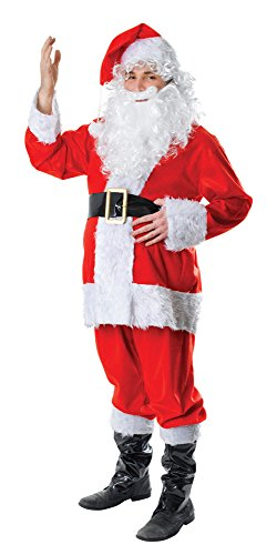 Bristol Novelty- Ac633 Costume de Père Noël avec Fourrure, Blanc, 42-44-Inch