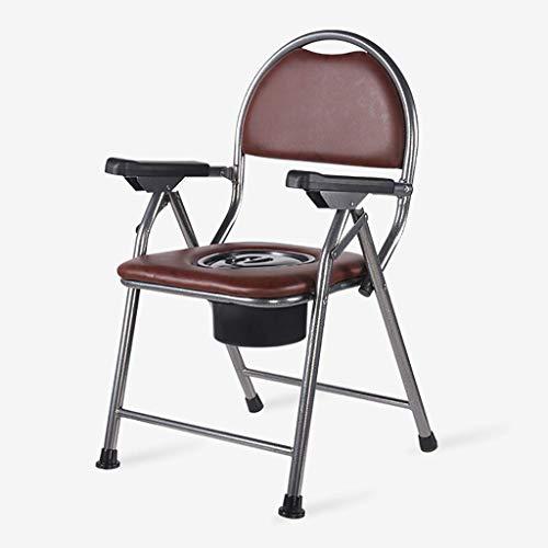 Z-SEAT Bedside Commode - Klappbarer tragbarer Toilettenstuhl Drive Medical Klapphocker/für ältere Menschen Mobile Toilette/Toilettenhocker/Toilettensitz