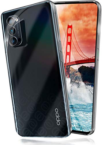 moex Aero Hülle kompatibel mit Oppo Reno4 Pro 5G - Hülle aus Silikon, komplett transparent, Klarsicht Handy Schutzhülle Ultra dünn, Handyhülle durchsichtig einfarbig, Klar