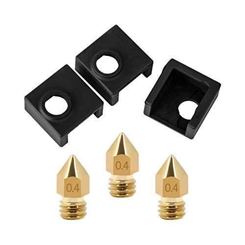 Facibom Heizelement Block des Silikon Drucker 3D Abdeckung Mk7 / Mk8 / Mk9 Hotend Für Ender 3, Ender 3 Pro, Cr-10,10S, S4, S5, Anet A8 Und Extruder Düse 0.4Mm Druck Kopf Für Mk8 Makerbot