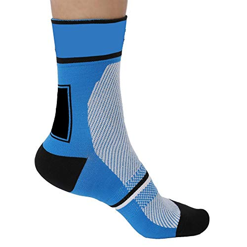 MAGT Sportsocken, 6 Farben Unisex Sport Wicking Socken Nylon Breathable Cycling Reitstrümpfe schützen die Füße(Blau)