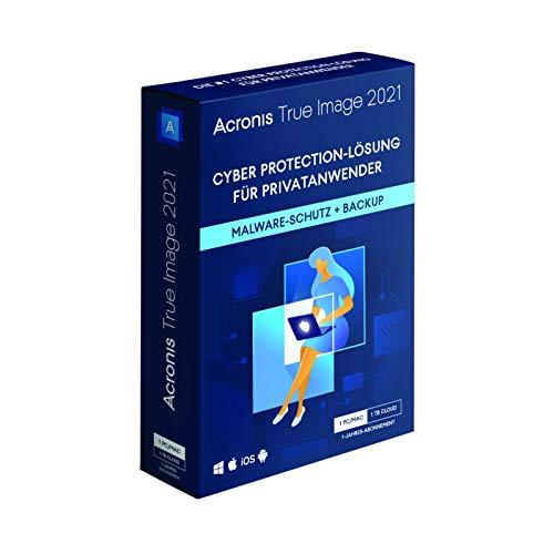 Acronis True Image 2021 | Premium | 1 PC/Mac | 1 Jahr | Cyber Protection-Lösung fürPrivatanwender| Integriertes Backup, Virenschutz 1 TB Cloud Storage | iOS/Android | Box-Version