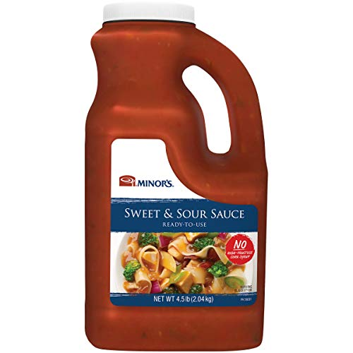 Minor's Sweet and Sour Sauce and Marinade, Authentic Bold Asian Flavor with Pineapple, 4.5 lbs (Packaging May Vary)