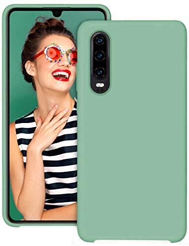 2Buyshop kompatibel mit Huawei P30 lite P30 Pro Hülle, Weiche Silikon Flexibel Huawei P30 lite Schutzhülle Breathable Handyhülle Huawei P30 Anti-Kratzer Stoßfest Gehäuse (Minzgrün,P30)